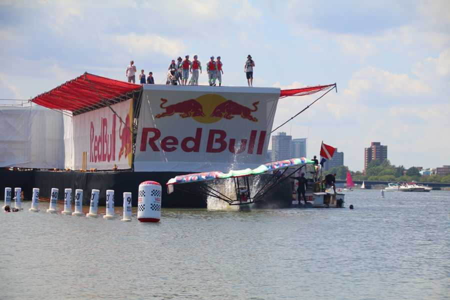 Red Bull's annual Flugtag was held in Boston Saturday. It was the first time the event was held in Boston.