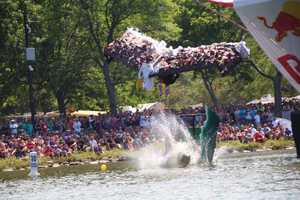 Team Live Free or Fly at Red Bull Flugtag in Boston.