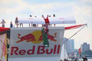 Team Papi launches at the Red Bull Flugtag in Boston.