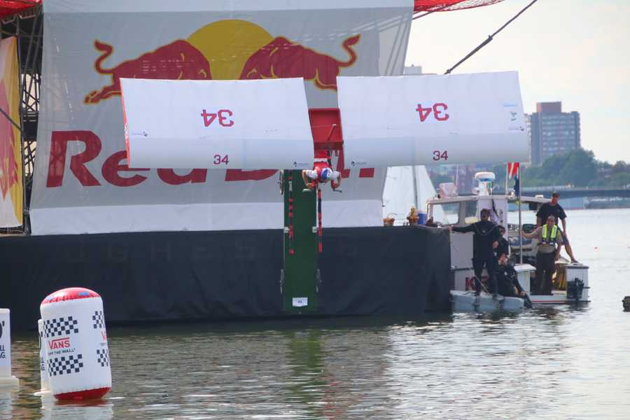 Team Papi prepares to hit the Charles River at the Red Bull Flugtag in Boston.