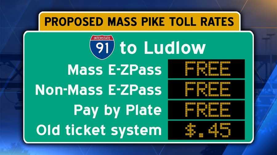 Interstate 90/Mass Pike from Interstate 91/Holyoke to Ludlow.