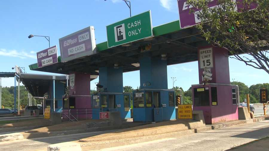 Toll plazas like this one have been closed and replaced by an electronic tolling system.