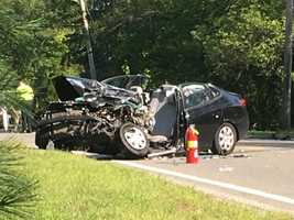 A school bus and a car were involved in a serious crash in Mendon.