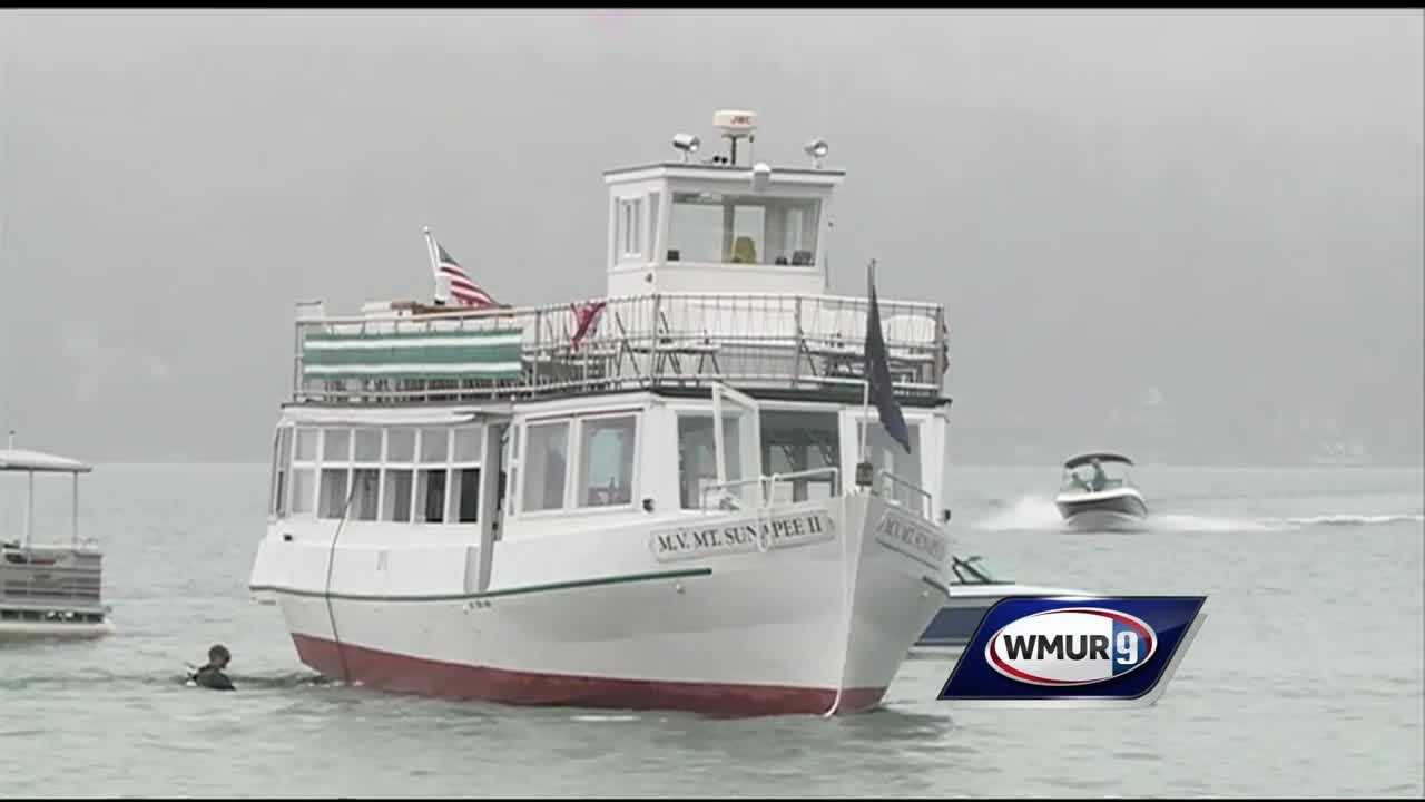 A cruise ship that ran aground on Lake Sunapee is back at its dock.