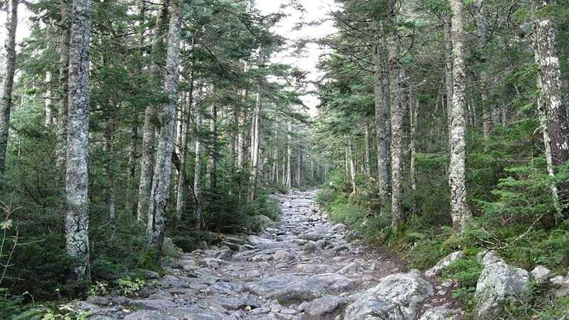 The Tuckerman Ravine trail in Mount Washington, New Hampshire. (Photo credit: Ws47)