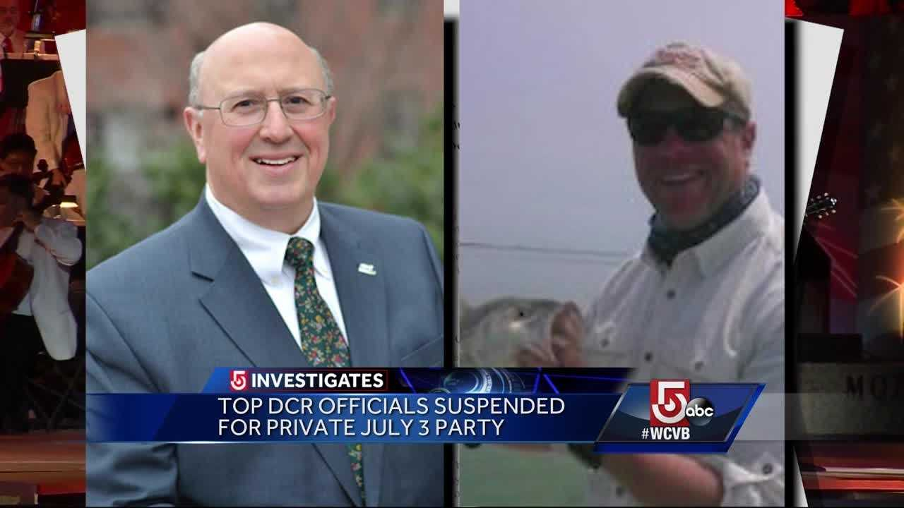 5 Investigates has learned two top state officials have been suspended without pay after using state resources to throw a July 3 party.