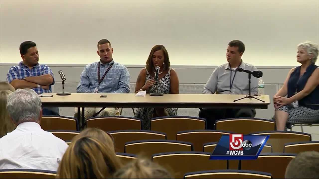 Five people shared their story at UMass Memorial as part of International Overdose Awareness Day.