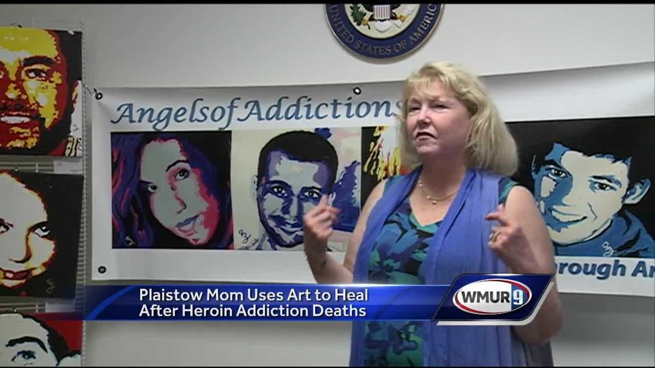 A New Hampshire mother is using her talent for painting to heal herself and others who've lost a loved one to addiction.
