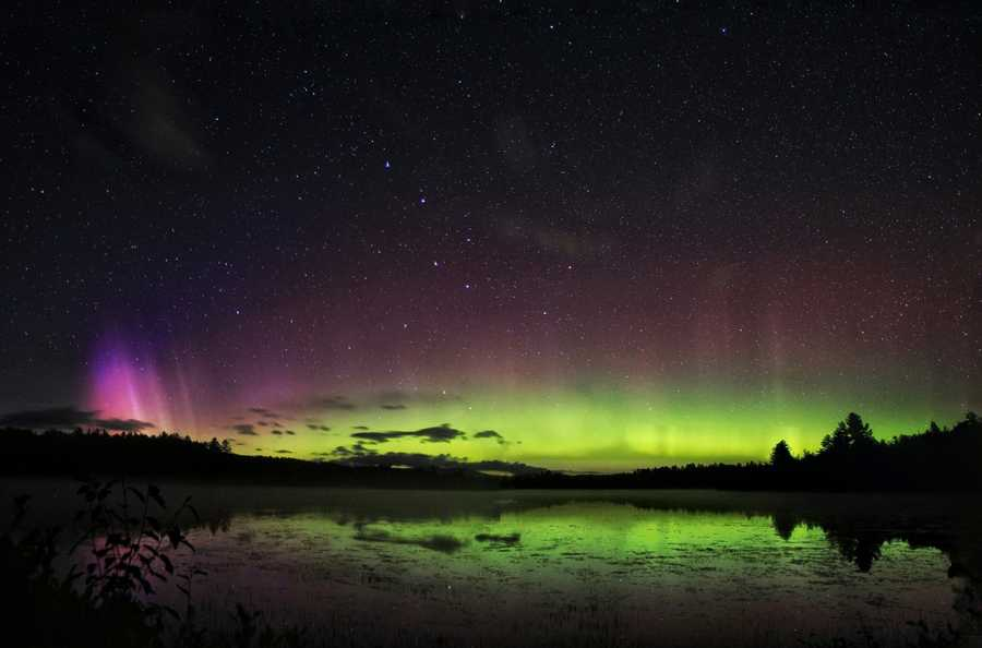 The Northern Lights illuminated the skies over Berlin, New Hampshire, Thursday night.