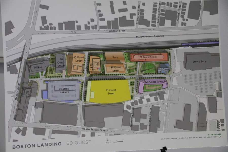 Map of the Boston Landing development.