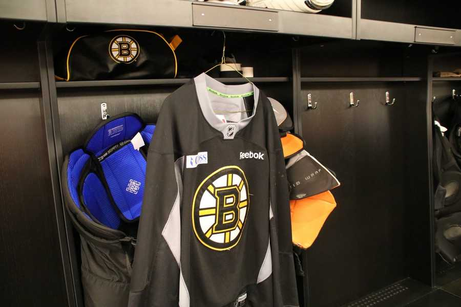 But the building also includes many areas set aside for the team, like their locker room.