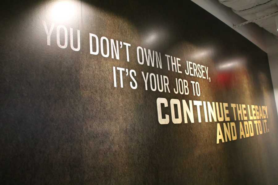 Inspirational messages are located throughout the facility.