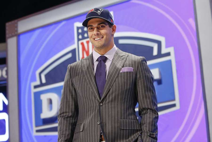 His family didn't think he would get picked by the Patriots.His family probably wasn't alone in this thought, but while Garoppolo and company were waiting at the Radio City Music Hall during the draft, bets were being placed among them on where Garoppolo would land. Teams mentioned included the New Orleans Saints and the Cleveland Browns, But no one expected the New England Patriots.