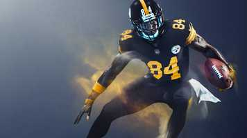 """According to the NFL, each club's Color Rush uniform """"takes inspiration from both its current and historic uniform colors and designs, combined with progressive innovation that will set the tone for the future of the game."""""""