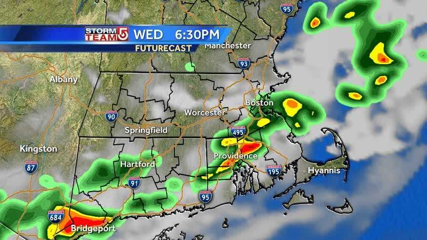 Scattered storms with gusty winds possible Wednesday