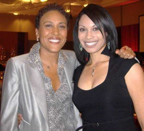"""My first ""famous"" interviewee was Robin Roberts who was in town for a fundraiser during my first year as an anchor in Omaha -- I was so excited to meet her!"""