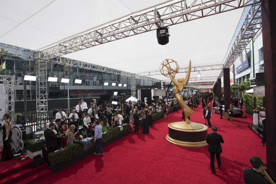 Hundreds of celebrities walked down the Red Carpet before Sunday's show. Scroll through for a look at what they were wearing.