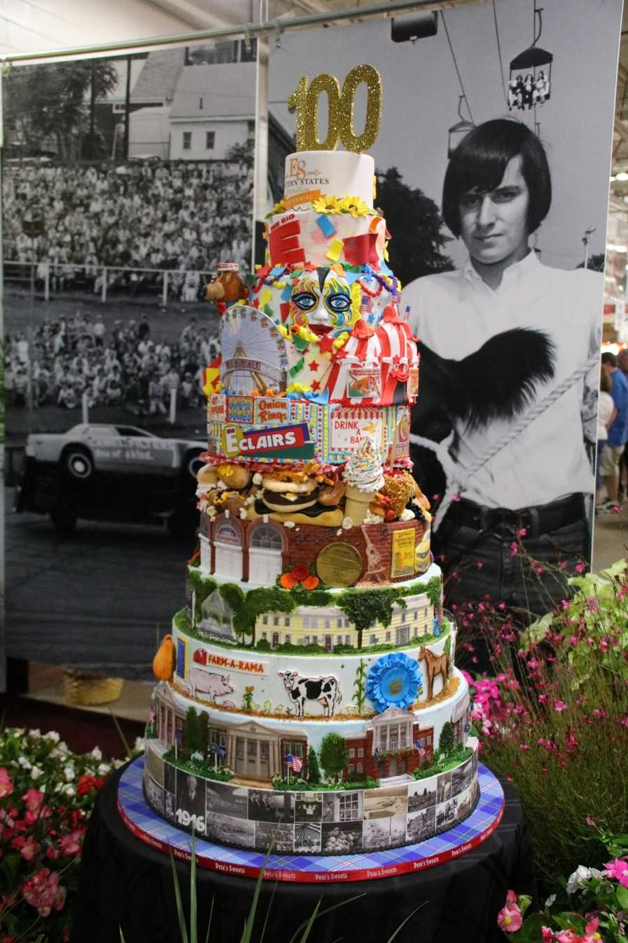 With more than 200 pounds of sugary sweet fondant, the birthday cake sculpture is not edible inside.