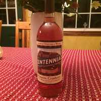Hardwick Vineyard and Winery's award-winning Massachusetts cranberry wine with Big E Centennial label from the Massachusetts State Building.