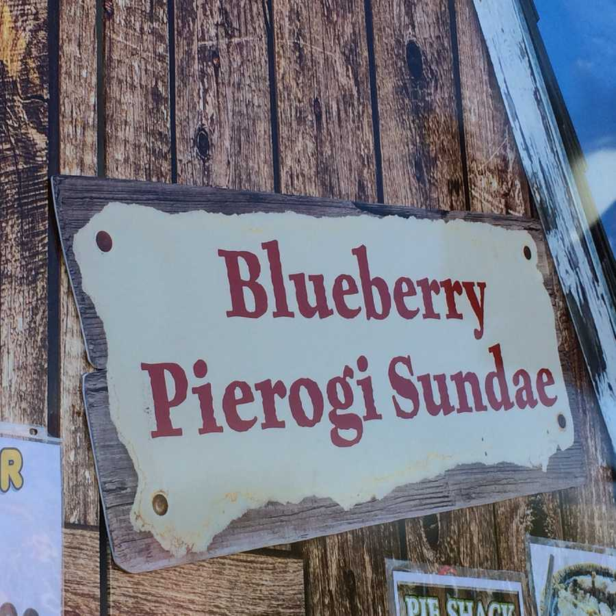 How about a blueberry pierogi sundae?
