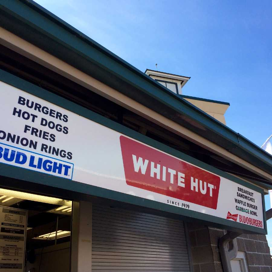 West Springfield's famous White Hut Cheesburgers.