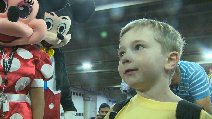 It was a magical send off at Logan Airport for little Giovanni as he left for a dream vacation to Walt Disney World, thanks to Make-A-Wish.