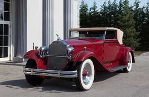 Classic cars dating back to the 1930s are up for auction at the Inaugural Boston Cup Auction. This is a1931 845 Rollston Convertible Victoria.