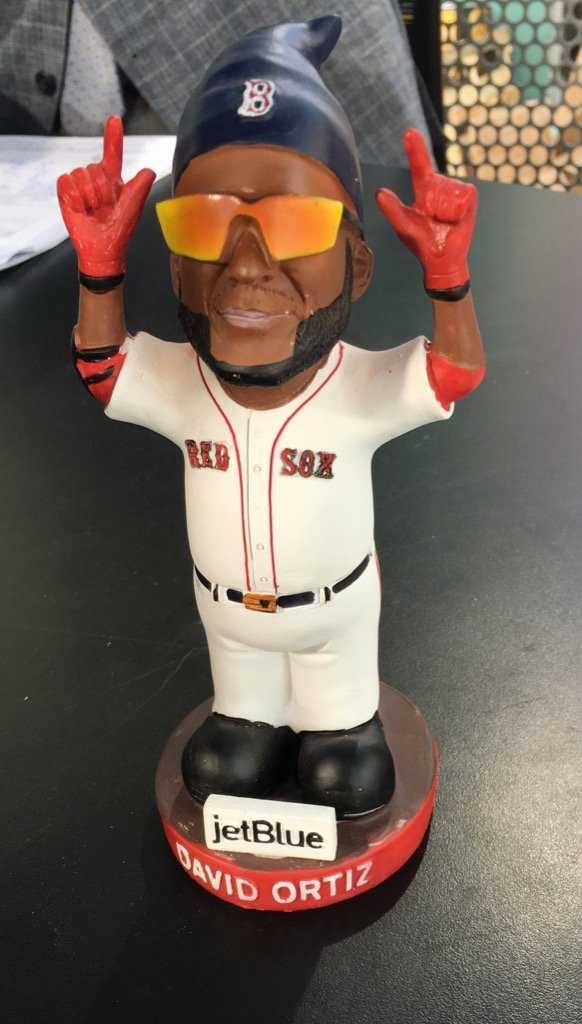 Oh gnome...yes that was one of the promotional items the Red Sox gave fans during Ortiz's final season.