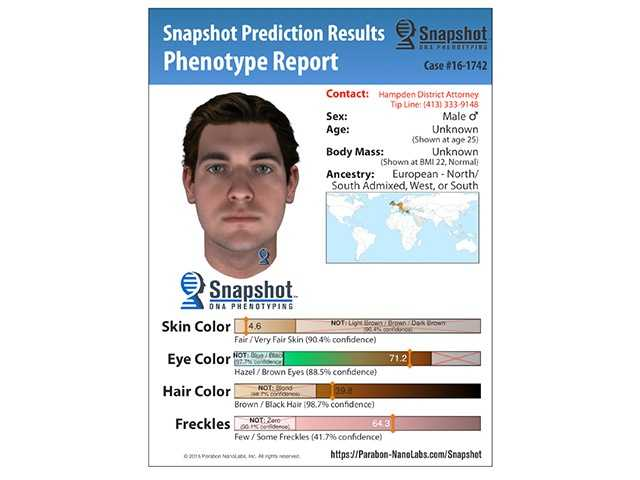 Hampden District Attorney Anthony D. Gulluni authorized evidence previously seized in the investigation to be analyzed and used to predict the physical appearance and ancestry of the perpetrator.