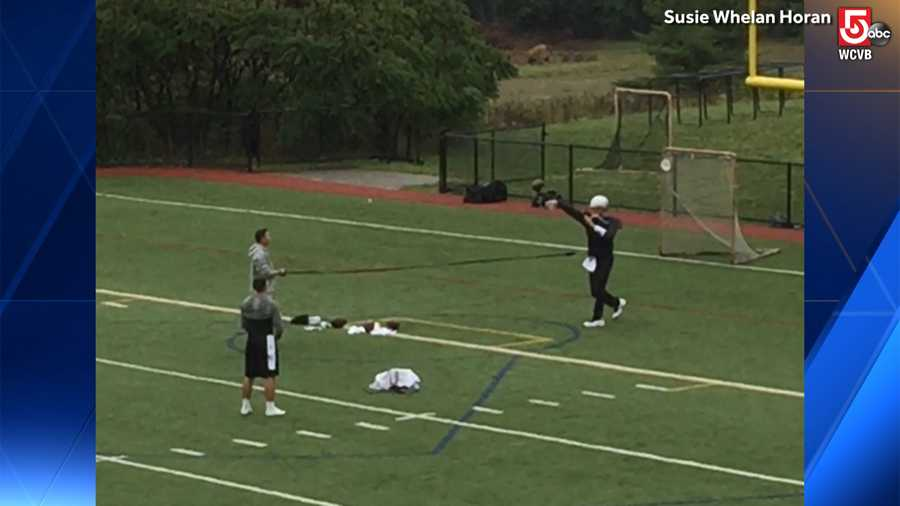 Tom Brady Spotted Practicing On Brookline Football Field