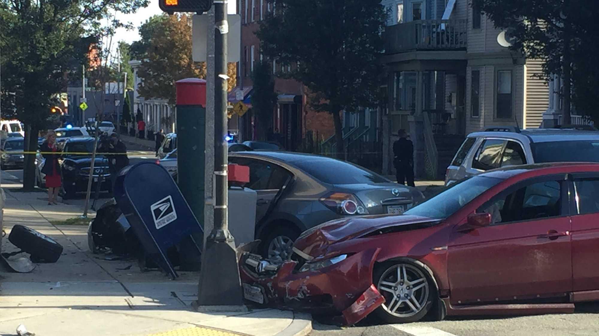 Roxbury crash