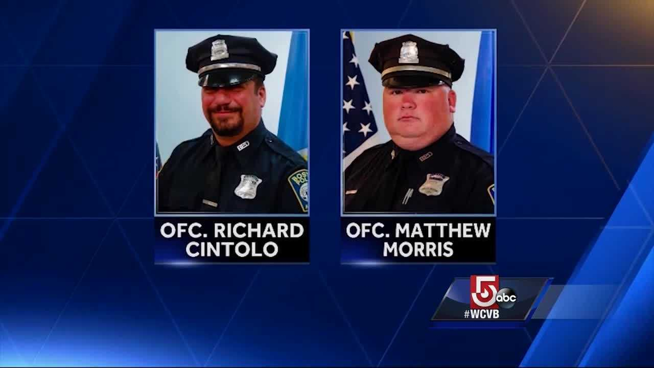 Vigil held for officers shot during shootout