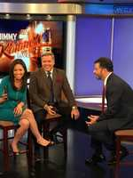 Kimmel is in town for a show he and Boston's own Bill Simmons in Boston on Saturday night.