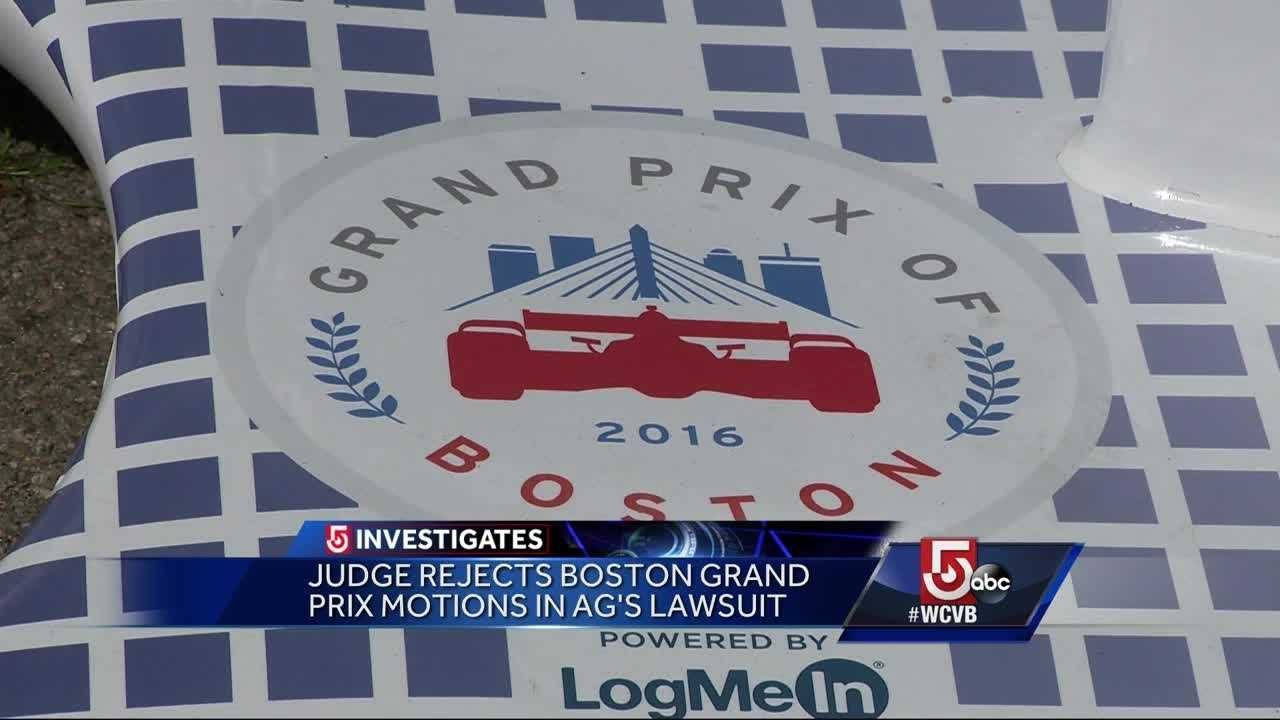 The Attorney General can move forward with a civil lawsuit against Boston Grand Prix and it's CEO.