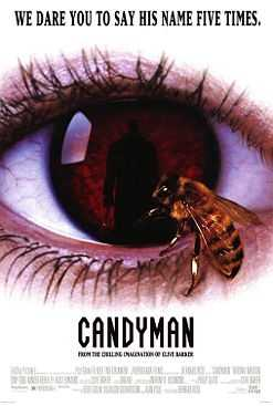 Produced by Clive Barker, who's also responsible for the Hellraiser franchise, this tackles the fears of a graduate student writing a paper on urban legends, which, naturally, leads him down a path of pure terror, blood, and the Candyman