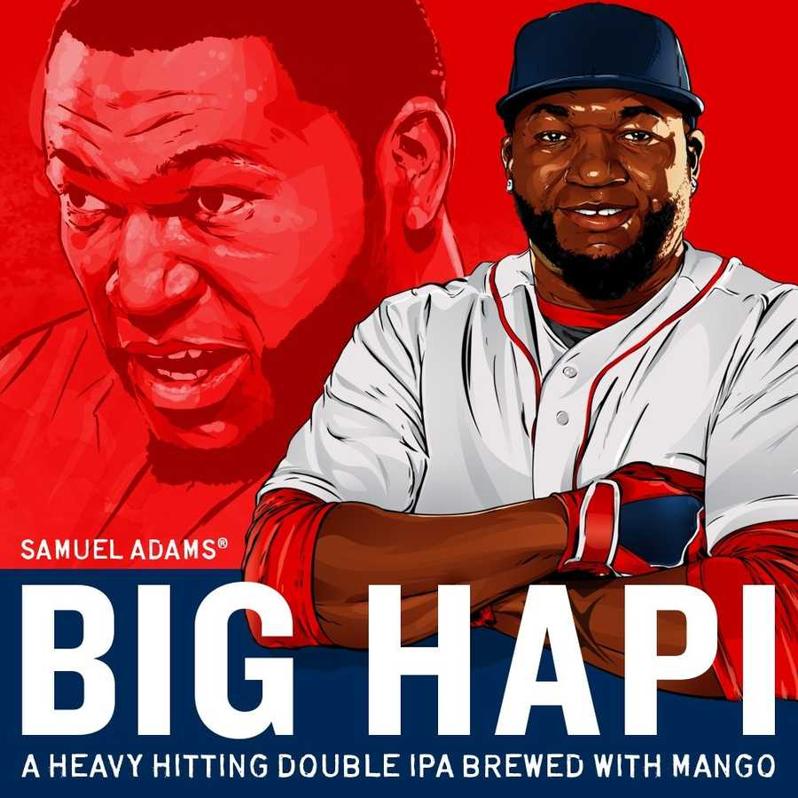 Samuel Adams is the latest to pay homage to the Red Sox legend. The beer company will be selling Big Hapi at their Boston brewery Friday, with proceeds going towards the David Ortiz Children's Fund.