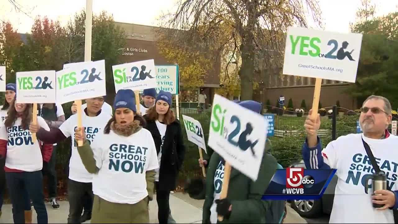 Opponents and supporters on the expansion of charter schools campaigned one day before the state decides on the measure.