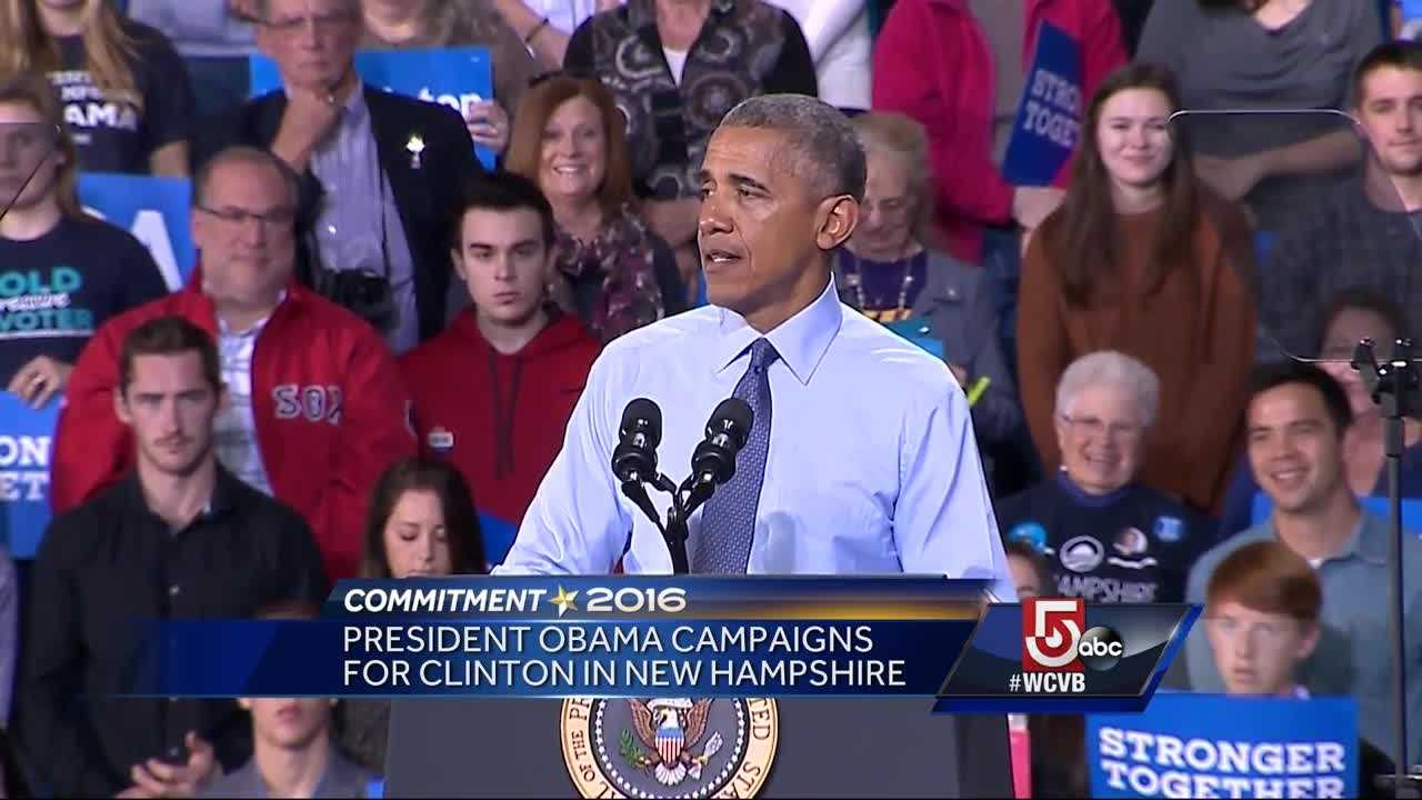 President Obama made a stop in New Hampshire Monday ahead of Election Day.