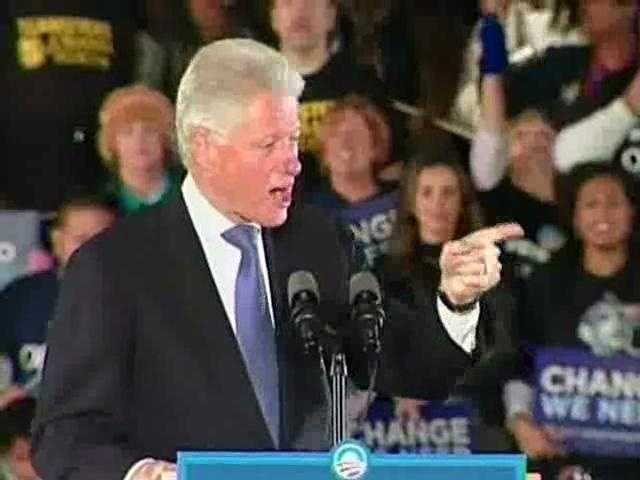 Former President Bill Clinton explains to a Long Island, N.Y. business group why he turned down Sudan's offer to extradite Osama Bin Laden to America in 1996