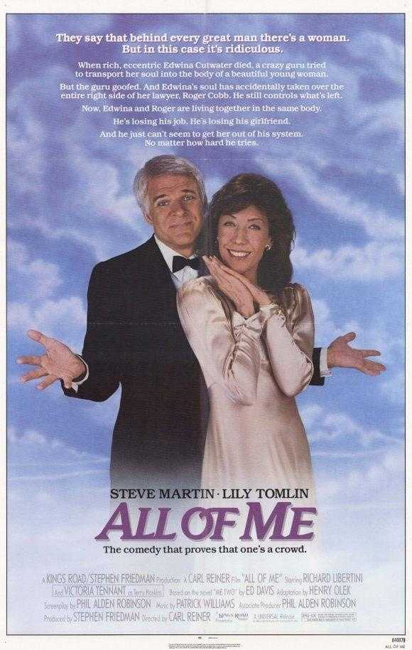 "In a snub that Academy critics often use to highlight the way comedic performances are treated by the Oscars, Steve Martin delivered a comic gem in 1984's ""All of Me,"" but was no where to be seen when Oscar nods were handed out."