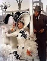 """Audrey Hepburn was nothing short of astounding in """"My Fair Lady."""" The movie was a big winner in 1965, taking Best Picture, Best Director and Best Actor for Rex Harrison along with five other awards in 12 total nominations, but Hepburn, whose lone Oscar was for 1953's """"Roman Holiday,"""" was nowhere to be seen."""