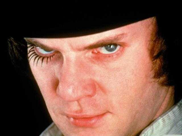 "One of cinema's most indelible images of apathetic evil was brought to life by Malcolm McDowell in Kubrick's masterpiece of ultraviolence ""A Clockwork Orange."" The 1971 movie earned Kubrick three nods, for director, picture and screenplay, but McDowell was shut out."