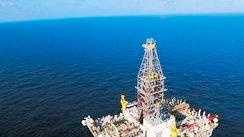 The rig Deepwater Horizon, shown operating in the U.S. Gulf of Mexico.