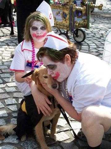 Pets and their people paraded through the French Quarter on Sunday for the Krewe of Barkus.