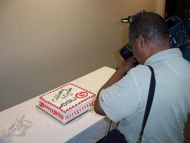 WDSU celebrated its 60th anniversary on Thursday with a cake and reception.