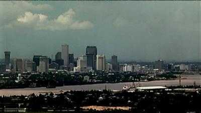 New Orleans city skyline generic (from Chalmette cam) - 13715132