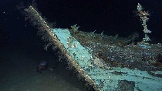 The remains of a ship, likely from the early 1800s, was found in the Gulf of Mexico by NOAA's Okeanos Explorer.