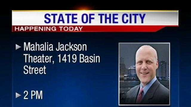 Mayor Mitch Landrieu will deliver his second State of the City address at the Mahalia Jackson Theater at 2 p.m. on Tuesday.