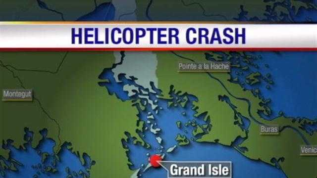 Coast Guard crews responded to a fatal helicopter crash near Grand Isle.
