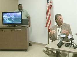 June 11, 2012: Investigators review the surveillance video collected from the gentlemen's club where Lockhart worked. Read the story